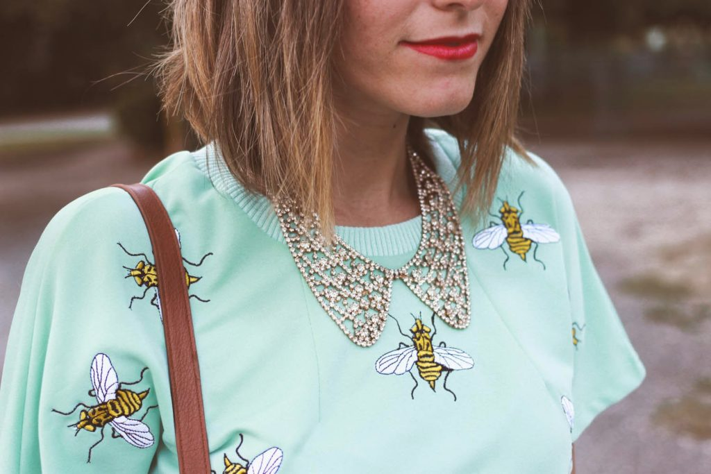 bees and mint chicwish blouse