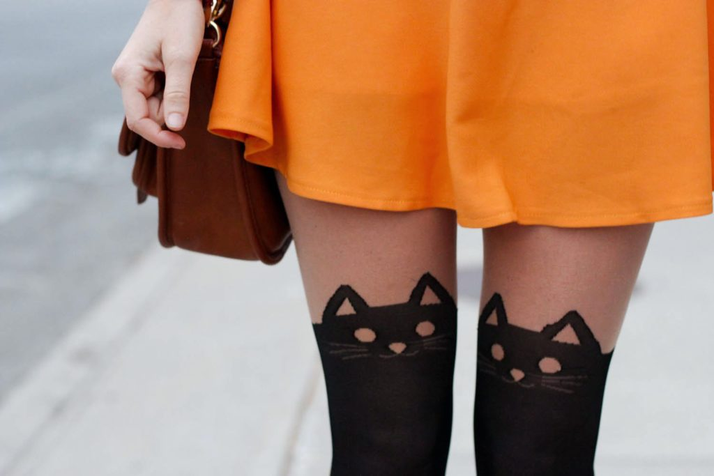 cat tights, fall style