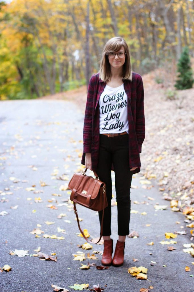 weiner dog shirt, dachshund clothes, bean goods, ny vintage blog, vintage fashion blog, fall outfit