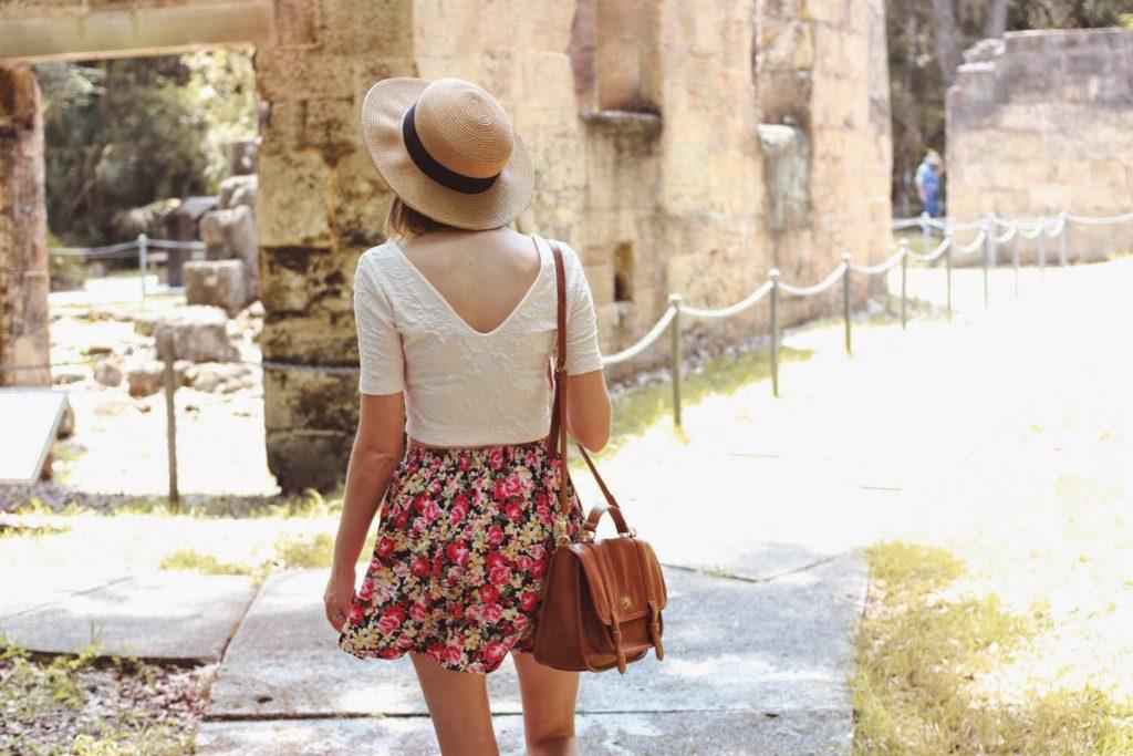 floral skirt, summertime