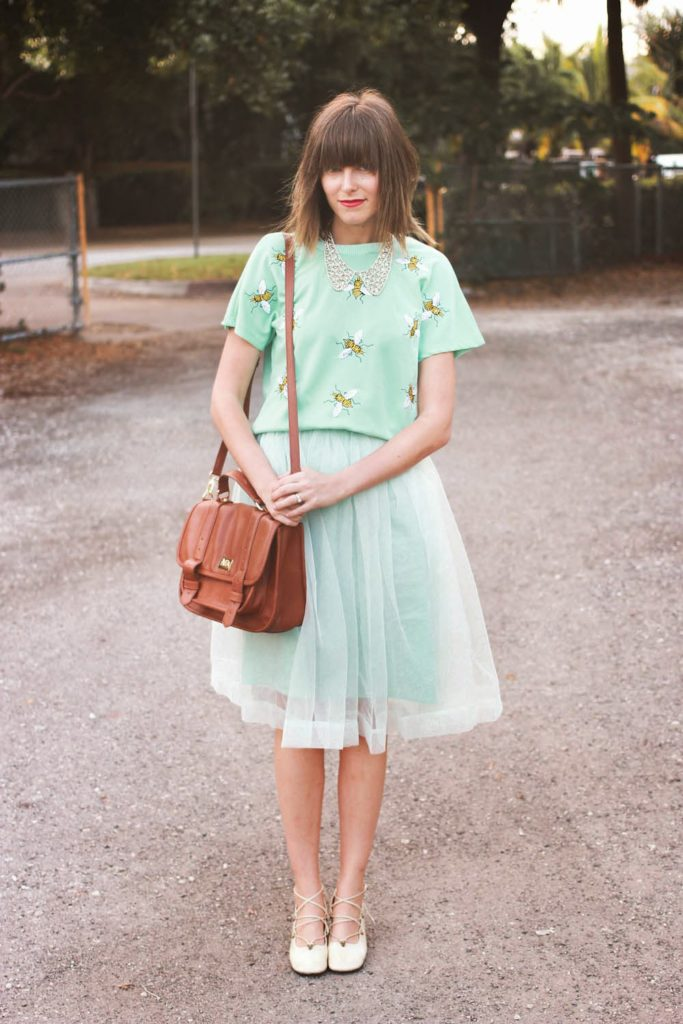 bees and mint chicwish outfit