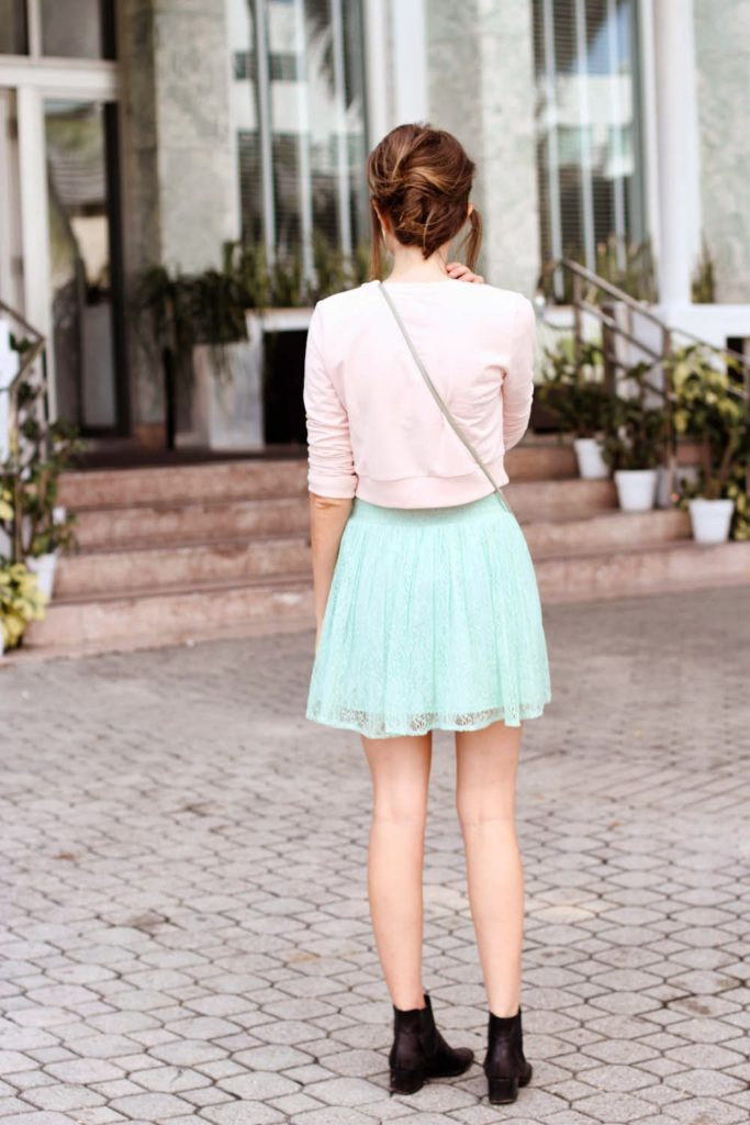 miami fashion blogger, forever 21, mint green