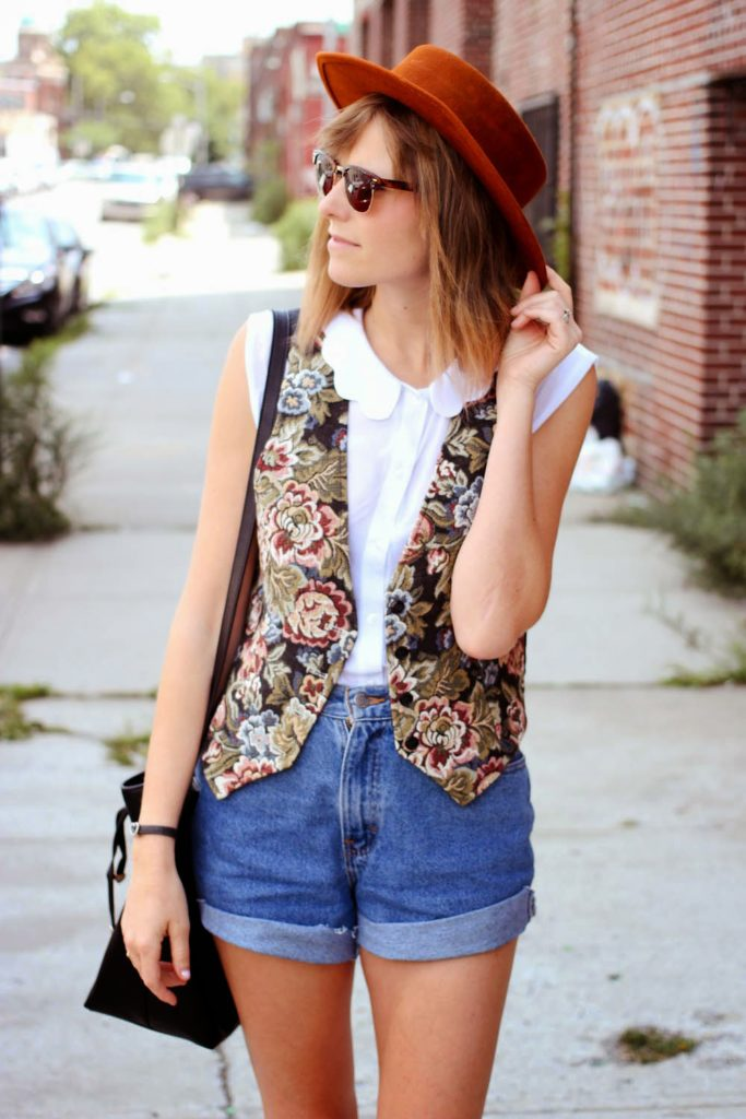vintage vest, ASOS shirt