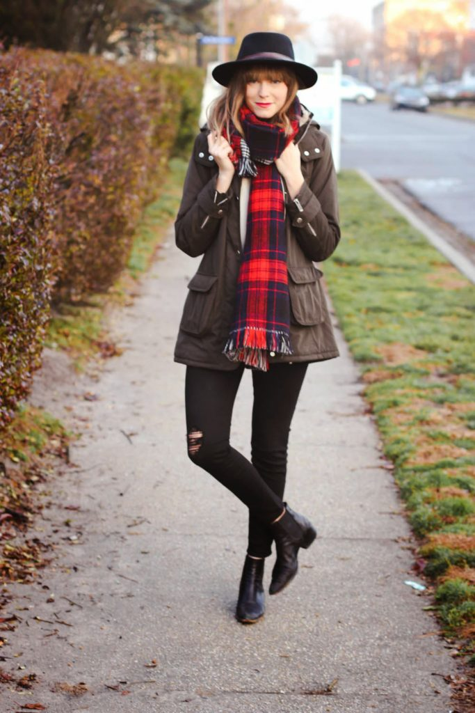 joe fresh plaid scarf, forever 21 jacket, vintage fashion blog, nyc fashion blog