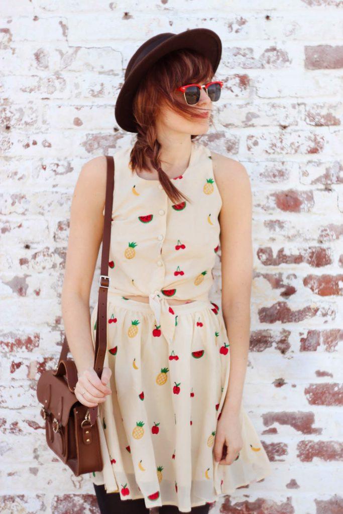 pepa loves fruit dress, nyc blog, nyc fashion blog, vintage fashion blog, nyc vintage blog, spring outfit, long beach ny