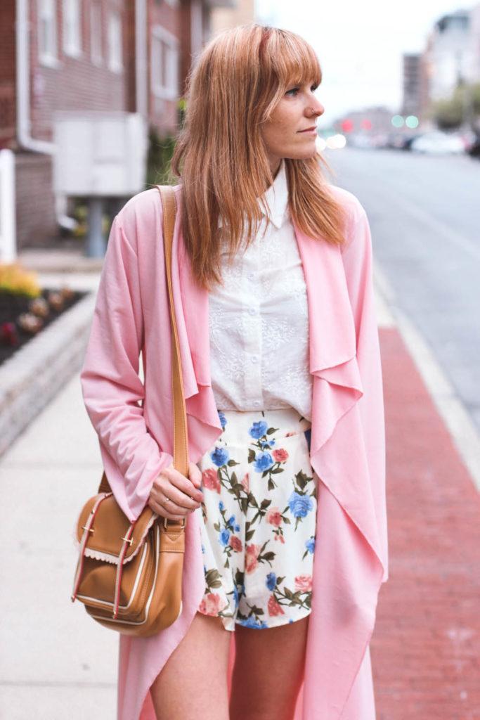 pink duster coat, long beach ny, nyc fashion blog, nyc fashion blogger, nyc vintage fashion, vintage fashion blog