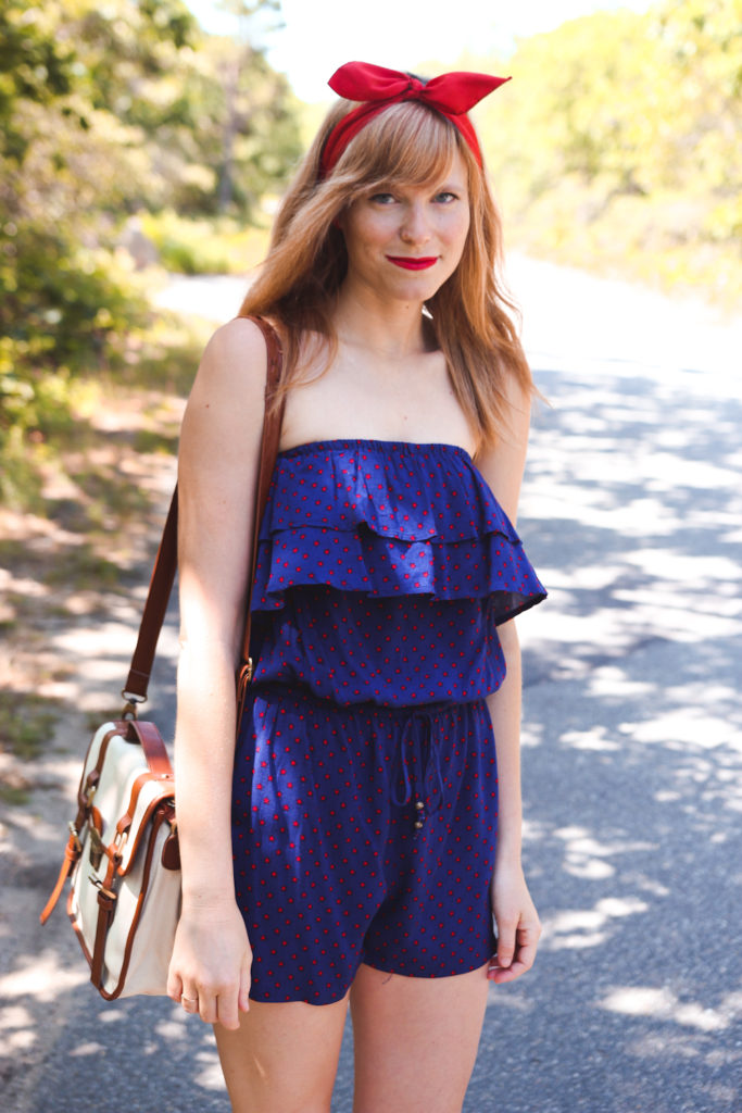 Aeropostale star romper, Red white and blue outfit, july 4 outfit, nyc fashion blogger, nyc fashion blog