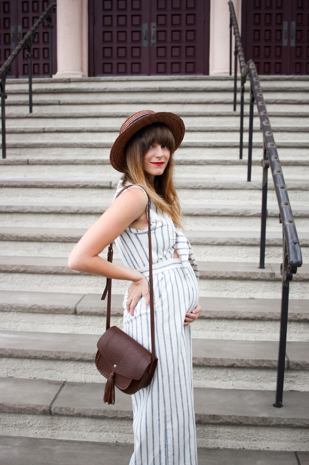 madewell maternity, maternity jumpsuit, wearing your favorite brands while pregnant