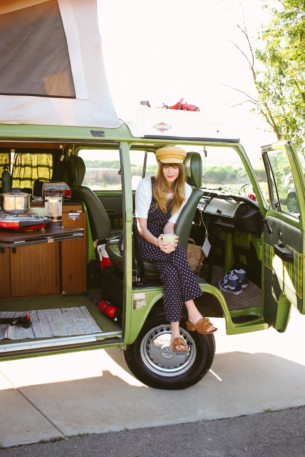 coffee in a VW van, Renting a VW Westfalia Van