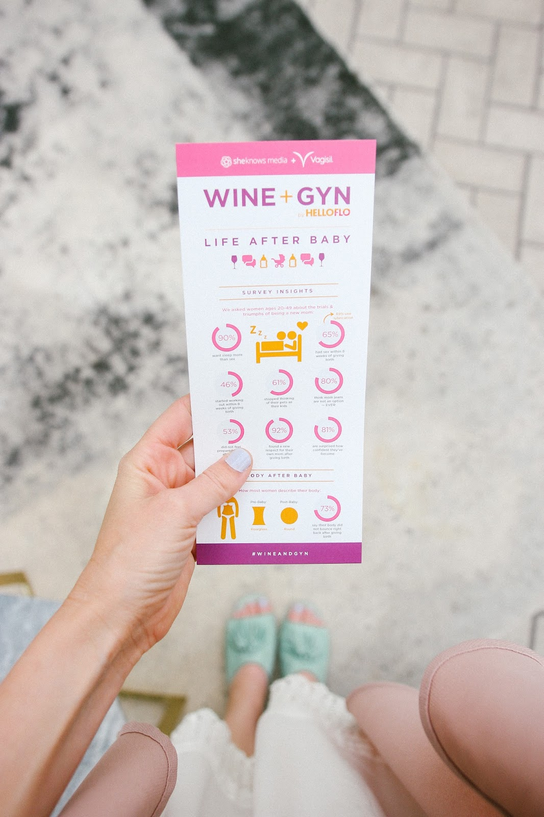 wine and gyn, first time mom, postpartum conversation