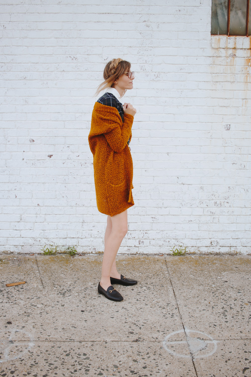 easy fall look, cozy cardigan, miss patina